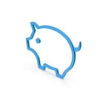 Symbol Pig Blue PNG & PSD Images