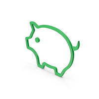 Symbol Pig Green PNG & PSD Images