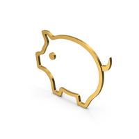 Symbol Pig Gold PNG & PSD Images