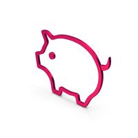 Symbol Pig Metallic PNG & PSD Images
