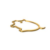 Gold Symbol Pig PNG & PSD Images