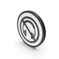 Icon No Headphones Black PNG & PSD Images