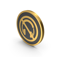 Gold Icon No Headphones PNG & PSD Images