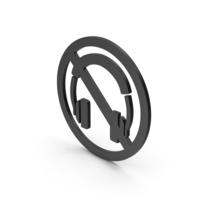Symbol No Headphones Black PNG & PSD Images