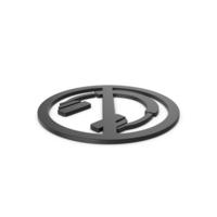 Black Symbol No Headphones PNG & PSD Images