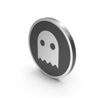 Silver Icon Ghost PNG & PSD Images