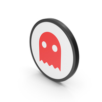 Icon Ghost Red PNG & PSD Images