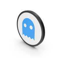 Icon Ghost Blue PNG & PSD Images