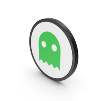 Icon Ghost Green PNG & PSD Images