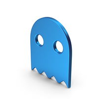 Symbol Ghost Blue Metallic PNG & PSD Images