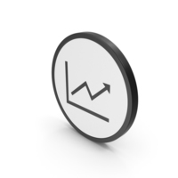 Icon Graph With Arrow PNG & PSD Images