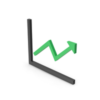 Symbol Graph With Arrow Green PNG & PSD Images