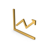 Symbol Graph With Arrow Gold PNG & PSD Images