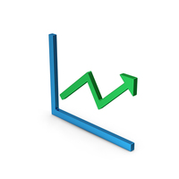 Graph With Arrow Colored Metallic PNG & PSD Images
