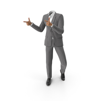 Thumbs Forward Suit Grey PNG & PSD Images