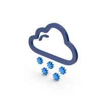 Symbol Weather Snowing Blue PNG & PSD Images