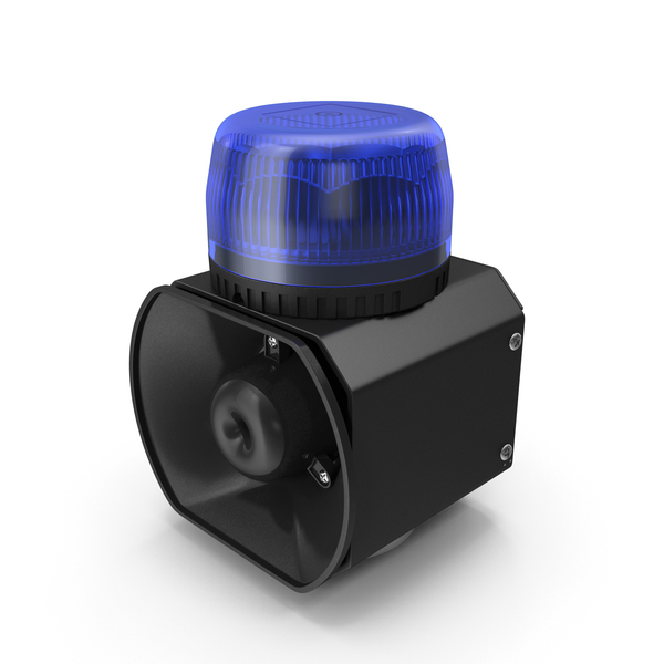 Magnetic Emergency Siren Beacon Blue PNG & PSD Images