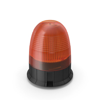 Magnetic Orange Flashing Beacon Light PNG & PSD Images