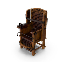 Medieval Spiked Torture Chair with Bloodstains PNG & PSD Images