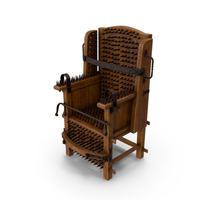 Medieval Torture Chair with Spikes PNG & PSD Images