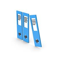Symbol Document Binder Blue PNG & PSD Images