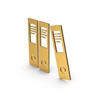 Symbol Document Binder Gold PNG & PSD Images