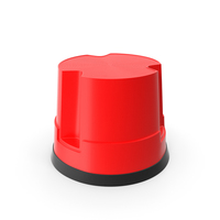 Mobile Kick Stool Plastic Red PNG & PSD Images