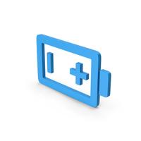 Symbol Battery Blue PNG & PSD Images