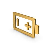 Symbol Battery Gold PNG & PSD Images