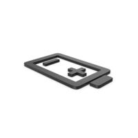 Black Symbol Battery PNG & PSD Images