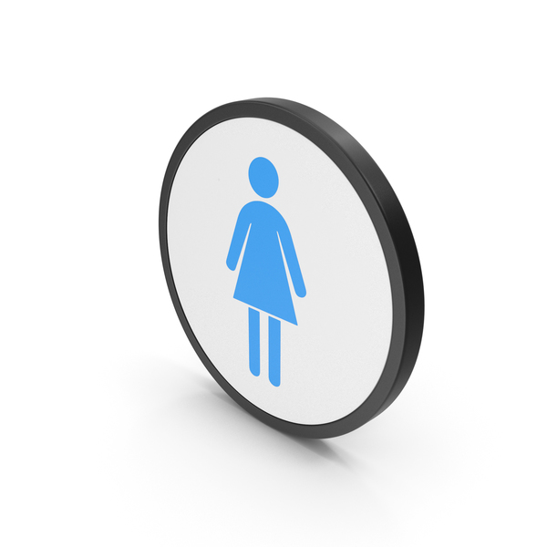 Icon Women Toilet Blue PNG & PSD Images