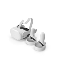 Oculus Quest 2 All in One Gaming Headset with Controllers PNG & PSD Images
