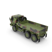 Oshkosh Camouflage Cargo Truck Exterior Only PNG & PSD Images