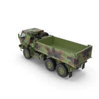 Oshkosh FMTV 10 Ton Dump Truck Camo PNG & PSD Images