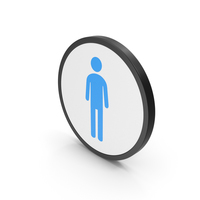 Icon Male Toilet Blue PNG & PSD Images