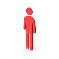 Symbol Male Toilet Red PNG & PSD Images