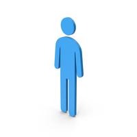 Symbol Male Toilet Blue PNG & PSD Images