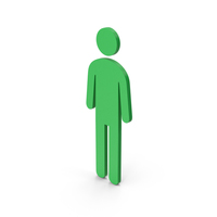 Symbol Male Toilet Green PNG & PSD Images