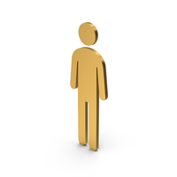 Symbol Male Toilet Gold PNG & PSD Images