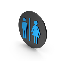 Toilet Blue Icon PNG & PSD Images