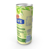 Beverage Can B-Life Botanicals Green Tea Jasmine 330ml PNG & PSD Images
