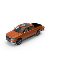 Pickup Truck with Runway Friction Tester PNG & PSD Images