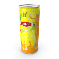 Beverage Can Lipton Ice Tea Peach 330ml Tall 2020 PNG & PSD Images