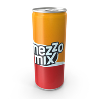 Beverage Can Mezzo Mix 330ml Tall PNG & PSD Images
