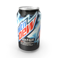 Beverage Can Mountain Dew Voltage 330ml PNG & PSD Images