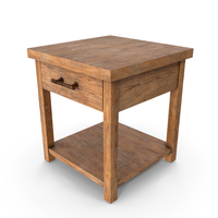 End Table Rustic PNG & PSD Images