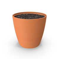 Pot with Soil PNG & PSD Images