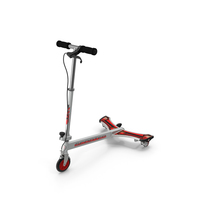 PowerWing Scooter Gray Red PNG & PSD Images