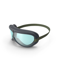 Vintage Military Goggles Blue PNG & PSD Images