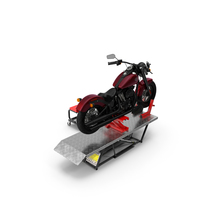 QuickJack Motorcycle Lift with Harley Davidson Softail Slim PNG & PSD Images